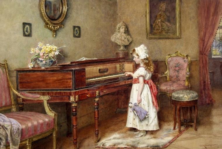 George Goodwin Kilburne - Piano Practice