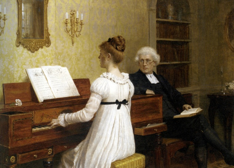 Leighton Edmund Blair The Piano Lesson